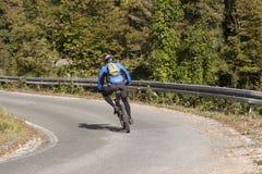 Homem do motorista da bicicleta Fotografia de Stock
