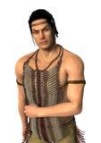homem do nativo americano da rendição 3D no branco Imagens de Stock