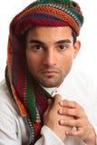 Homem do Oriente Médio da raça misturada imagens de stock