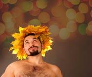 Homem do outono. Fotos de Stock Royalty Free