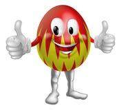 Homem do ovo da páscoa dos desenhos animados Fotografia de Stock