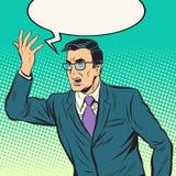 Homem do político do orador ilustração do vetor