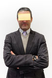 Homem do post-it Imagens de Stock