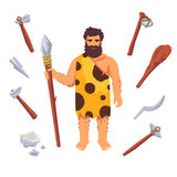 Homem do primitivo da Idade da Pedra Foto de Stock