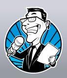 Homem do repórter Imagens de Stock