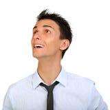 Homem do retrato do close up que olha acima imagens de stock royalty free