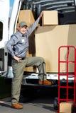Homem do serviço postal da entrega. Fotos de Stock Royalty Free