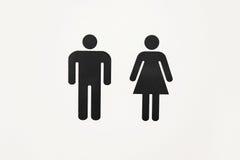 Homem do sinal e toalete fêmea Fotografia de Stock