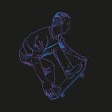 Homem do skate que faz o truque ilustração do vetor