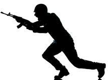 Homem do soldado do exército no assalto Imagem de Stock