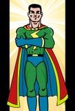 Homem do super-herói Fotografia de Stock Royalty Free