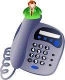Homem do telefone ilustração royalty free
