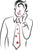 Homem do telefone móvel ilustração royalty free