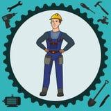 Homem do trabalhador manual Foto de Stock Royalty Free