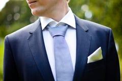 Homem do vestido de casamento do noivo imagem de stock royalty free