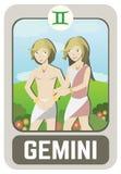 Homem do zodíaco: Gêmeos Imagem de Stock