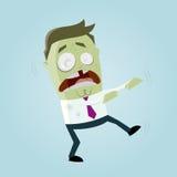 Homem do zombi do negócio engraçado Fotos de Stock