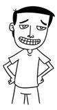 Homem dos desenhos animados Fotos de Stock