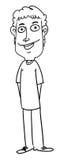 Homem dos desenhos animados Foto de Stock Royalty Free