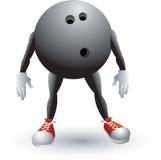 Homem dos desenhos animados da esfera de bowling Fotos de Stock