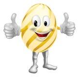 Homem dos desenhos animados do ovo da páscoa ilustração do vetor
