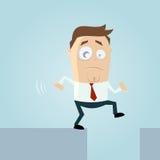 Homem dos desenhos animados no perigo Foto de Stock