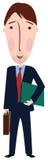Homem dos desenhos animados no terno ilustração do vetor