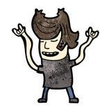 homem dos desenhos animados que balança para fora Imagem de Stock Royalty Free