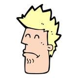 homem dos desenhos animados que sente doente Fotografia de Stock Royalty Free