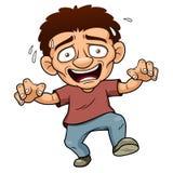 Homem dos desenhos animados scared Fotografia de Stock