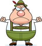 Homem dos Lederhosen dos desenhos animados irritado Foto de Stock