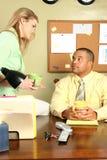 Homem e assistente de negócio Foto de Stock Royalty Free