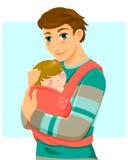 Homem e bebê ilustração royalty free