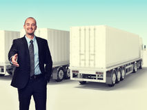 Homem e caminhão Fotografia de Stock