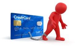 Homem e cartão de crédito (trajeto de grampeamento incluído) Foto de Stock Royalty Free