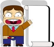 Homem e cartaz Foto de Stock