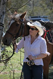 Homem e cavalo imagem de stock royalty free