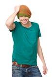 Homem e chapéu consideráveis do inverno fotos de stock royalty free