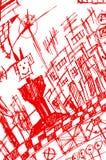 Homem e cidade Ilustração Royalty Free