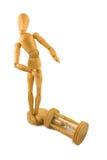 Homem e clepsidra Imagem de Stock Royalty Free