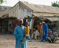 Homem e criança em Senegal Fotografia de Stock