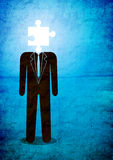Homem e enigma Foto de Stock