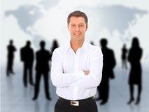Homem e equipe abstrata Imagens de Stock Royalty Free