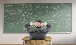 Homem e esboço das fórmulas Imagem de Stock Royalty Free