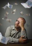 Homem e Euro Foto de Stock