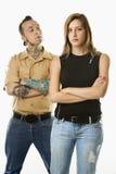 Homem e fêmea adolescente Fotos de Stock Royalty Free
