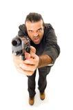 Homem e Firegun Foto de Stock Royalty Free