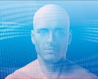 Homem e informação Foto de Stock