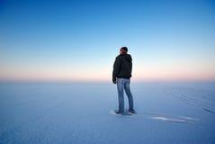 Homem e inverno Imagens de Stock