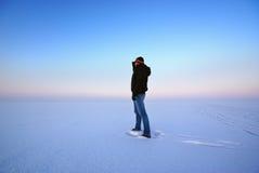 Homem e inverno Imagens de Stock Royalty Free